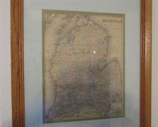 Antique 1855 Michigan Map
