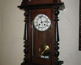 Porcelain Faced Antique Clock