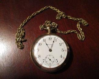 Gold Plate Pocket Watch