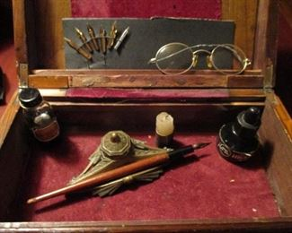 Antique Quill Pen & Ink Set