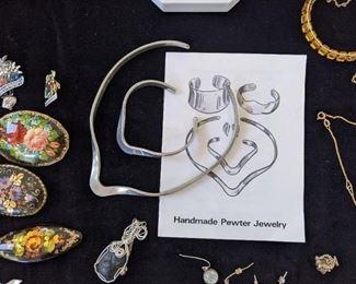 Pewter jewelry