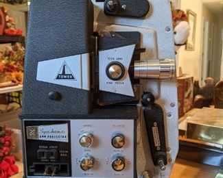 Vintage Tower Super Automatic 8mm Movie Projector