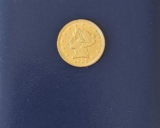 1/4 Eagle Liberty gold coin