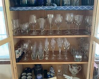 Assorted Glass Ware- make an appointment to view in person.  All Blue glasses have sold