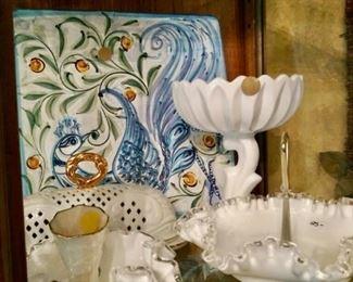 White glass china