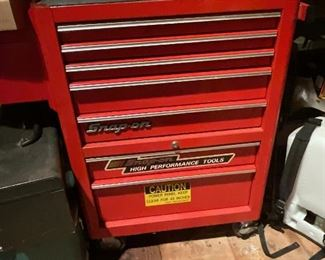 Snap on tool box with tools - over 1K in value.