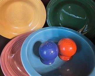 Dozens of Fiestaware pieces