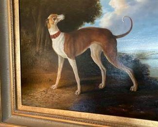 Large Greyhound whippet painting