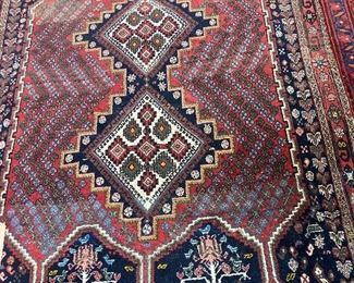 Fabulous antique Afshar tribal Persian rug-very elaborate & fine! 60-80 years old