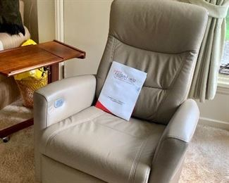 Newer Fjord Leather Recliner
