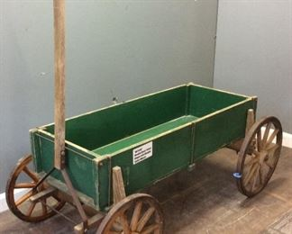 ANTIQUE WOOD HAND PULLED WAGON
