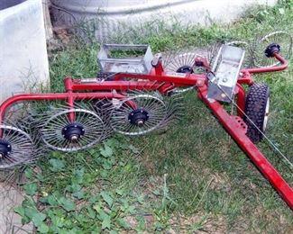 Pull Behind Yard Tractor Size Hay Rake