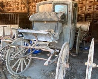 Victorian horse drawn carriage from the 1800's