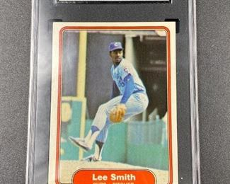 1982 Topps Lee Smith SGC graded 7