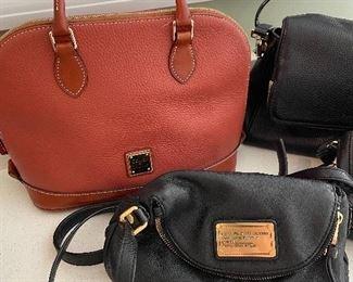 Dooney & Bourke purse ; Marc Jacobs purse