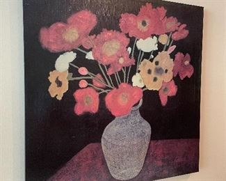 """Floral canvas print (35"""" square)"""