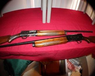 Belgium Browning 16ga and Remington Model 11 12ga