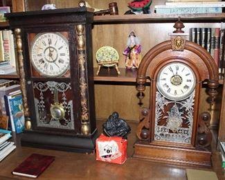 "antique wall clock; Ansonia ""Parisian"" kitchen clock"