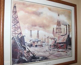 Gladys City print, local artist