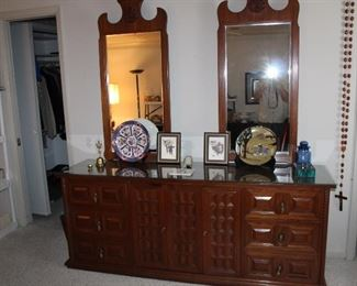 another nine-drawer dresser with twin mirrors, matching chest