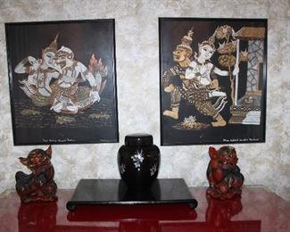 pair Thai temple rubbings