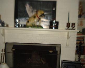 chalk, fireplace tools