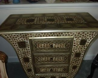 Art Deco entry stand with 3 drawers