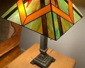 Original stain glass lamp