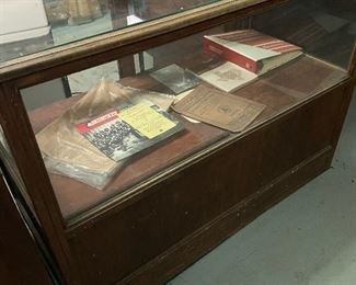 Old store display case
