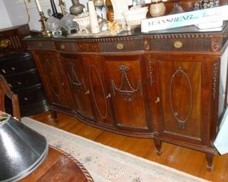 Matching large antique sideboard