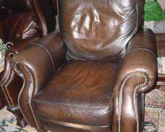 Matching leather chair..does have some wear.
