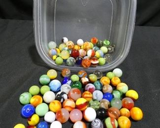 More than 100 Vintage Marbles