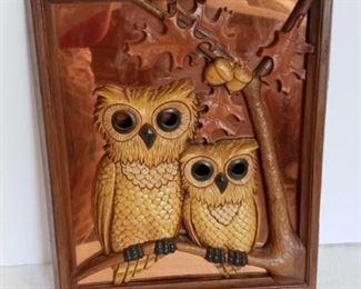 3D Owl Wall Art