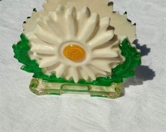 Acrylic Retro Daisy Napkin Holder