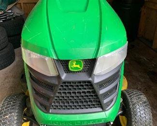 "John Deere, 300X, well-maintained, with mulching set-up. 42"" cut. Never rake again!"