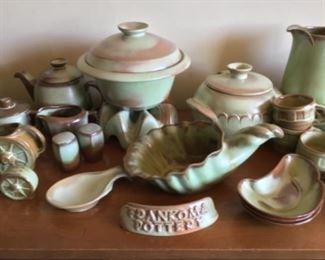 Frankoma display ~pottery ~ dishes ~
