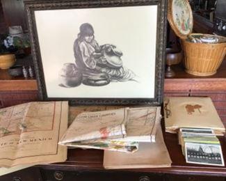 Vintage maps ~postcards