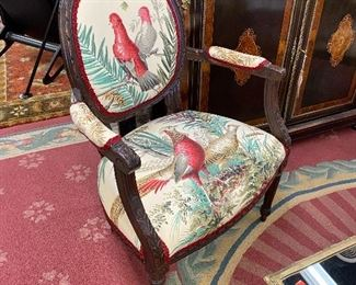 Pair of petit carved armchairs
