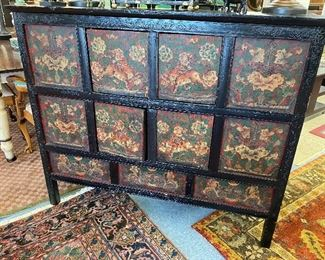 Asian painted and decorated cabinet