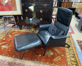 Geoff Hollington for Herman Miller leather lounge chair and ottoman.