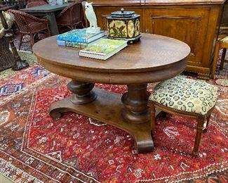 20th century mahogany library table