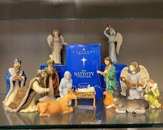 Nativity set by Coalport