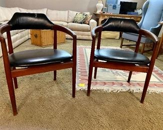 Two danish armchairs. Sold separate from dining set.