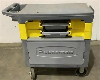"""Located in: Chattanooga, TN MFG Rubbermaid Rolling Tool Cart Size (WDH) 19""""W x 38""""L x 34""""H **Sold as is Where is**"""