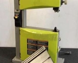 """Located in: Chattanooga, TN MFG Ryobi Model BS904G Ser# EM14194D0102919 Power (V-A-W-P) 120V - 60Hz - 2.5A 9"""" Band Saw Tested Works **Sold As Is Where Is**"""