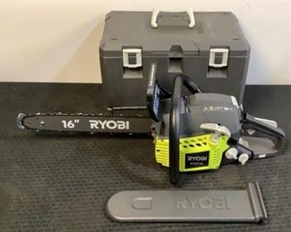 """Located in: Chattanooga, TN MFG Ryobi Model RY3716VNM Ser# LT21015D260351 16"""" Gas Powered Chain Saw Tested Works **Sold As Is Where Is**"""
