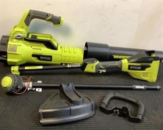 Located in: Chattanooga, TN MFG Ryobi 40V String Trimmer And Jet Blower Combo Tested Works Lot Includes: Ryobi Weed Trimmer MN: RY40007VNM SN: LT21154D140349 Ryobi Jet Blower MN: RY40407VNM SN: LT21154D14039 *Battery And Charger Not Included* **Sold As Is Where Is**