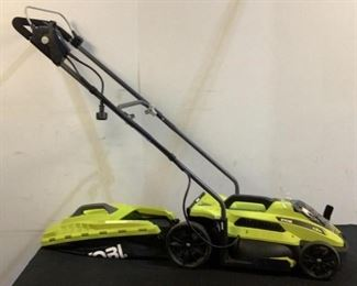 """Located in: Chattanooga, TN Model RYVAC130 Ser# AL21121D220958 Power (V-A-W-P) 120V - 60Hz - 11A 15"""" Electric Lawn Mower Tested Works **Sold As Is Where Is**"""