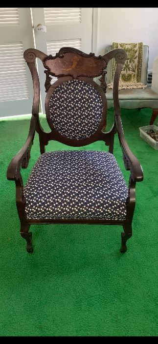 newly custom upholstered antique chair