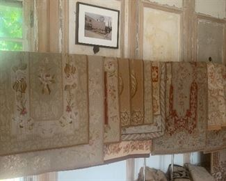 Antique and vintage textiles, tapestries, floor coverings, table covers, shams, Ralph Lauren and more
